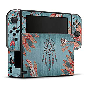 DeinDesign Skin kompatibel mit Nintendo Switch Folie Sticker Traumfänger Indien Feder
