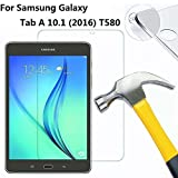 DETUOSI® Samsung Galaxy Tab A6 10.1 Pellicola Protettiva in Vetro Temperato Screen Protector Film Ultra Resistente,per SM-T580/T585(2016 Modelle)