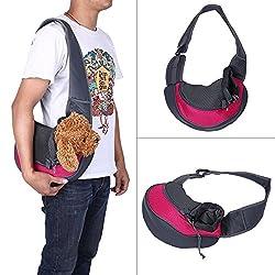 FWQPRA Small Pet Carrier Sling,Outdoor Travel Tote Single Shoulder Bag Carrier for Puppy Pet Dog Cat