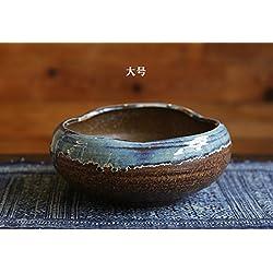 XOYOYO Japanische Steinzeug Keramik Blumentöpfe Topfpflanzen Keramik Schmuck Fish Tank Pen Wash Tee Zeremonie Zubehör Aschenbecher Funktionen, große, mittlere