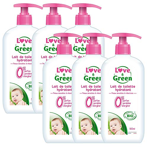 Love & Green Lait de Toilette Hydratant Bio 0% 500 ml