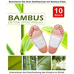 100 Detox Fusspflaster Entgiftungspflaster Bambuspflaster Entschlackungspflaster