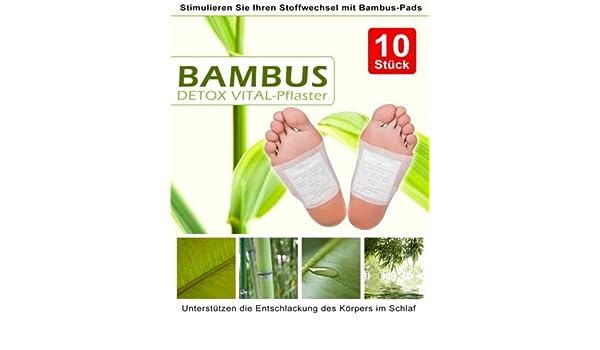 100 Detox Fusspflaster Entgiftungspflaster Bambuspflaster