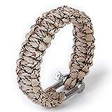 Dcolor ueberlebens-Armband mit Edelstahl-U Schaekel