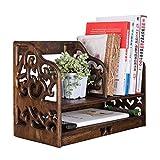 YWAWJ Bücherregal Desktop Bücherregal Arbeitsplatte Bücherregal Bürobedarf Holz Schreibtisch Organizer Zubehör Display Rack