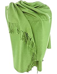 1070d03d6a38e Nepal Solid Two Ply Warm Soft Pashmina Scarf Shawl Wrap By Silver Fever®  Brand (