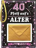 Pfeiff aufs Alter Frauen 40 mit Umschlag: Happy Birthday