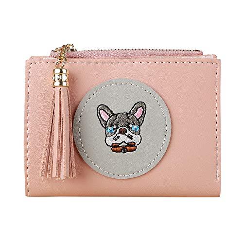 Quaan Mode Exquisit Frau Einfach Retro Haspe Kurz Brieftasche Inhaber Brieftasche Münze Geldbörse Leder Telefon Schlüssel Kette nett Süßigkeiten Geschenk elegant Party elegant zuversichtlich