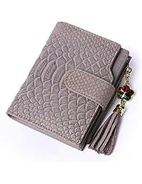 335ea5338a ZHENGJIU Portafoglio Uomo E Donna Portafoglio in Pelle Breve Cerniera  Portamonete con Fibbia Carta Pacchetto Pacchetto