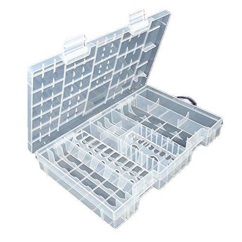Pixnor Akku Batterie Aufbewahrungsbox Organizer für Batterien Schutzbox
