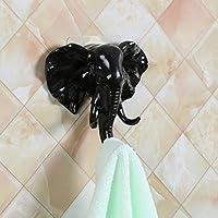 Elephant Head Adhesive Hooks, Indexp Kitchen Bathroom Glass Ceramic Brick Stainless Steel Wall Door Decoration Coat Bag Keys Ornaments Towel Hanger Sticky Holder