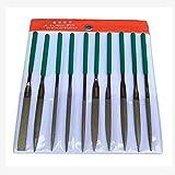 Jeu de fichiers à aiguille en métal, 10 fichiers à main Pcs Tool Kit Mini ensemble de fichiers pour le classement en verre de bijoux en pierre en céramique en métal grossière (4 * 160Mm)