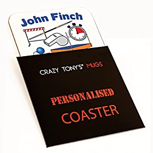 Personalised Worlds Best Athletics Coach Coaster Gift For Athletes Coach By Crazy Tony's
