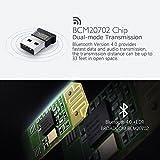 Bluetooth 4.0inalámbrico USB Dongle Adaptador para PC portátil ordenador de sobremesa con Windows 10, 8.1, 8, 7, Vista, XP 32/64bit