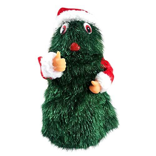 Myspace 2019 Dekoration für Christmas Weihnachtselektrisches Spielzeug-Weihnachtstanzen Und Musikalisches Elektrisches Spielzeug-Geschenk-Fallschirm Hula Band Sankt