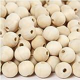 Holzperlen, D: 15 mm, Lochgröße 3 mm, china berry, 500Stck.