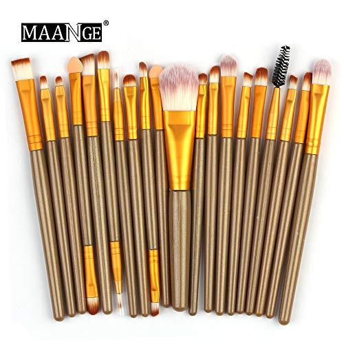 Makeup Brushes,Professionnelle Kits ,20Pcs / Set Ensemble De Pinceaux De Maquillage Outils De Maquillage Trousse De Toilette en Laine Makeup Brushes Brush Beauté Maquillage