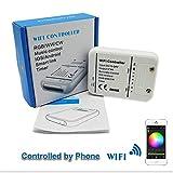 DC12V-24V RGB LED Wifi Controller, LED Streifen RGB/RGBW/RGBWW 16 Millionen Farben Musik und Timer-Modus Wifi Fernbedienung von IOS/Android Smartphone