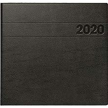 Brunnen Calendar Large Square 107661190 Model 766, 2 Pages = 1 Week, 210 x 205 mm; Foam Cover Black Calendar 2018