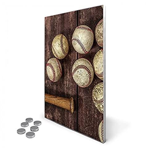 Edelstahl Magnettafel 35x50 cm inkl. 6 Magneten, Design Magnetwand für