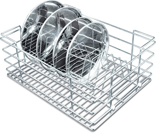 Now & Ever Stainless Steel Modular Kitchen Thali Dish Rack , 15 W X 20 D X 8 H Inches, Silver