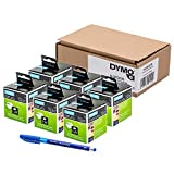 6X Dymo mm original Dymo LabelWriter étiquettes d'adresse (Autocollant) 89, 28x 89mm–Imprimé Noir sur blanc, 2rouleaux de 130+ PAPERMATE Stylo Cadeau