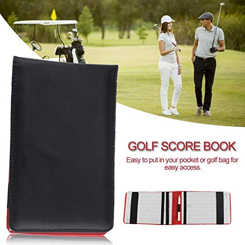 Scorebook Golf-Stickbuch aus PU-Leder, tragbar, langlebig, für Karten