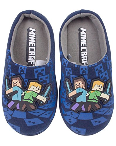 Minecraft Surrounded Boy's Slippers 13 UK