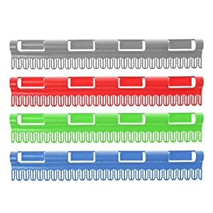 Lunji Wäschetrockner aus Edelstahl, für Socken, rutschfest, winddicht (zufällige Farbauswahl), silber, S: 31.5cmx4.6cm