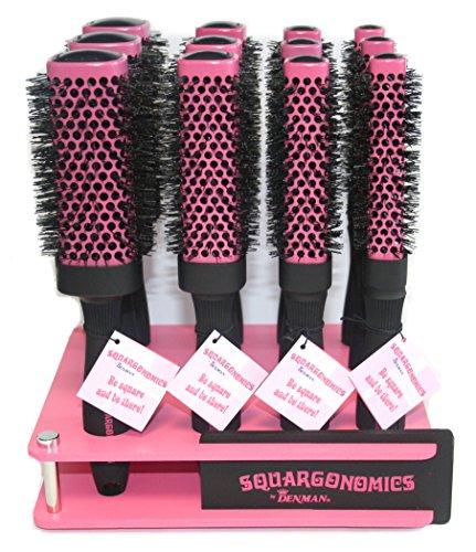 Denman Hot Curl Bürste Set Ständer, Pink, 3-teilig - Hot Curl-bürste