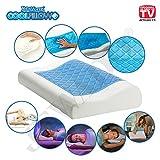 Restform® Cool Pillow - Kissen aus Viskoelastischem Schaum mit Kühlendem Gel (50 x 30 x 9/6 cm) - Original aus TV-WERBUNG
