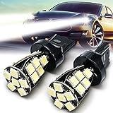#8: SLV 2pcs T20 Side Light Bulbs Lamps Canbus No Error W21 5W T20 6000K LED Daytime DRL
