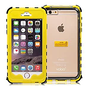 iPhone 6 Plus Waterproof Case, Vcloo® iPhone 6 Plus Waterproof Case, Dust Proof, Snow Proof, Shock Proof Case, Heavy Duty Protective Cover Case for iPhone 6 Plus with Touched Transparent Screen (Yellow)