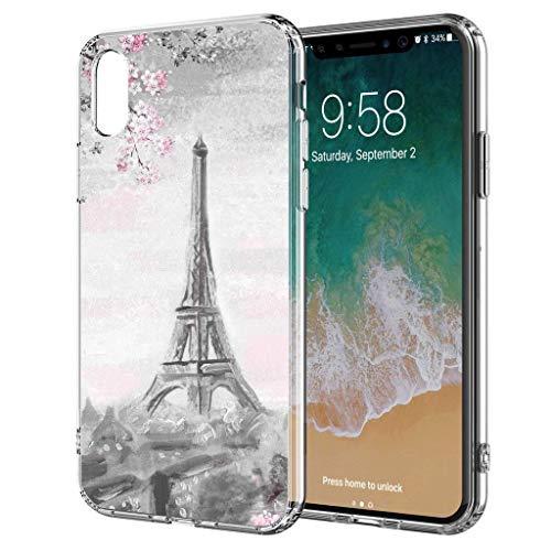 blitzversand Handyhülle Watercolour Paris France kompatibel für iPhone 5 / 5s Gewitter Paris Schutz Hülle Case Bumper transparent M3