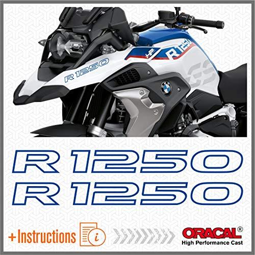 2pcs Adesivi R1250GS compatibile con BMW R1250 GS R 1250 HP Motorrad 2019 Adventure (Blu)