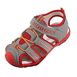 Sport Sandals for Kids-Kids Sandals Closed-Toe Outdoor Sport Sandals Summer Breathable Mesh Water Sandals for Boys Girls(Toddler/Little Kid/Big) Adjustable Strap Sandal Gray