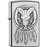 Zippo 200PL Devil femelle emblème Briquet à essence laiton chromé brossé, Chrome, noir, 5.8 x 3.8 x 1.8 cm