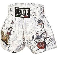 Leone 1947 ABJ01 Pantalones Cortos de Boxeo, Unisex - Niño, Blanco, S