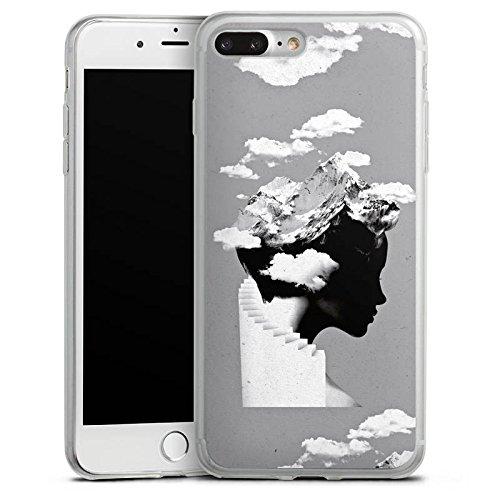 Apple iPhone 8 Slim Case Silikon Hülle Schutzhülle Silhouette Kopf Wolken Silikon Slim Case transparent