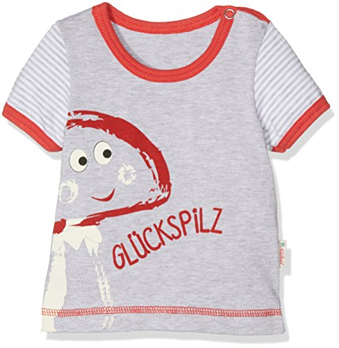 Adelheid Unisex Baby T-Shirt Glückspilz® Bio Leibchen k. A. Albglück 14170136936, Einfarbig, Gr. 62 (Herstellergröße:62/68), Grau (mausgrau 940) (Bio-baumwoll-t-shirt Glücks)