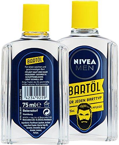 NIVEA Men Bartöl für Bart & Stoppeln mindert Juckreiz Abbildung 2