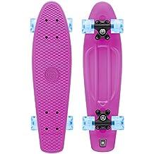 Xootz pour enfant Skateboard complet en plastique style rétro avec roues à LED, Enfant, Complete Retro Plastic