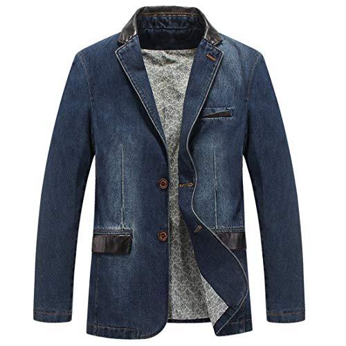 männer mit lässigen Jeans männer zwanglos Sakko Mens Size Single - Mantel,Flache Denim,XXL -