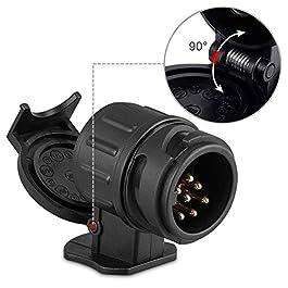 rosenice montaggio presa sigaretta 12/V-24/V impermeabile auto moto presa accendisigari GPS con supporto nero