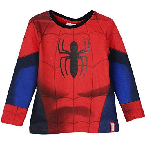 Spiderman -  Maglia a manica lunga  - ragazzo Red 7-8 Anni