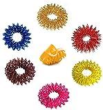 Su-Jok Spannring für Akupressurmassage, verschiedene Farben, 6er-Set, inklusive Daumenring