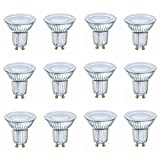 OSRAM LED STAR PAR16 50 120° 3,6W=50W 350 lm GERMANY warm white 2700K nodim 12er