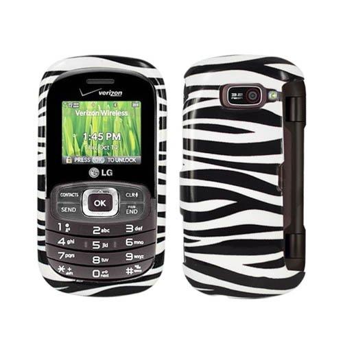 Schutzschale für LG VN530 Octane Zebra (Hartplastik, zum Aufstecken, glänzend) Schwarz/Weiß (Handy Case Lg Octane)