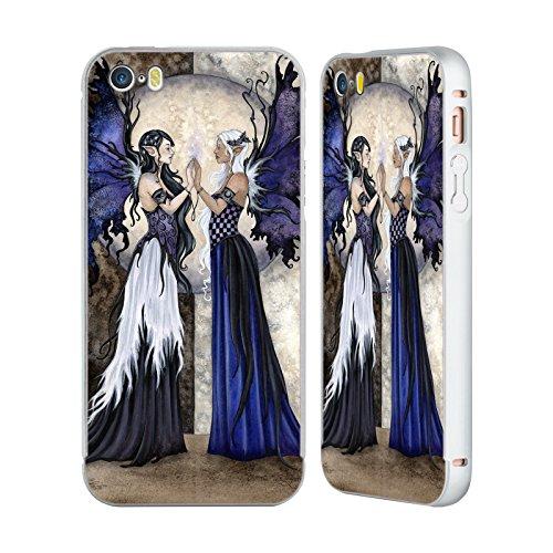 Ufficiale Amy Brown Donna Delle Foreste Fate Argento Cover Contorno con Bumper in Alluminio per Apple iPhone 5 / 5s / SE Le Due Sorelle