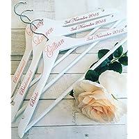 Wedding Hangers, Personalised Hangers, Bride, Bridesmaid, Maid of Honour, Mother of the Bride/Groom, Flower Girl, Groom, Best Man, Usher